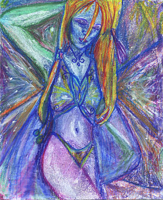 Redhead Mixed Media - The Belly Dancer by Sarah Crumpler