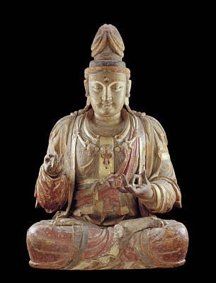 Bodhisattva Sculpture - The Bodhisattva Guanyin by Chinese School