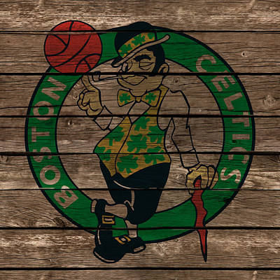 Larry Bird Mixed Media - The Boston Celtics 1e by Brian Reaves