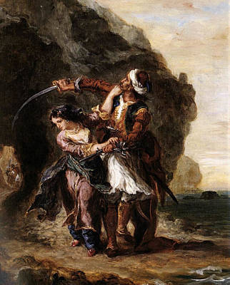 Romantic Painting - The Bride Of Abydos by Eugene Delacroix