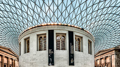 Window Signs Photograph - The British Museum by Adrian Evans