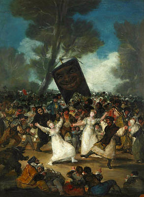 Dance Painting - The Burial Of The Sardine by Francisco Goya