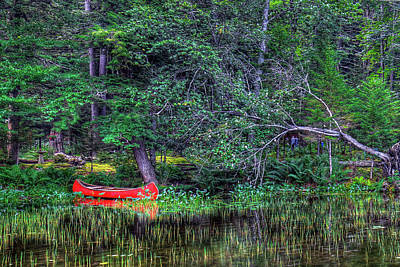 The Canoe Print by David Patterson