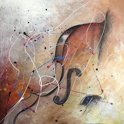 Splat Painting - The Cello by Vital Germaine