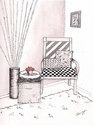 The Chair Print by Jayne Somogy