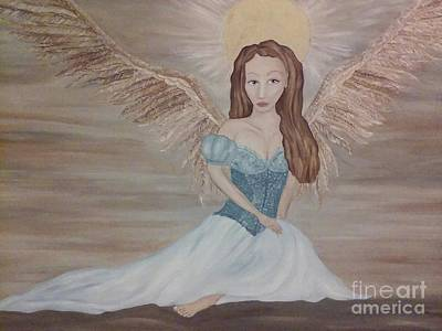 Twin Flame Painting - The Clearing After The Wind Dance by Wendy Wunstell