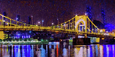 Roberto Clemente Bridge Digital Art - The Clemente Bridge Heading To The Northshore by Digital Photographic Arts