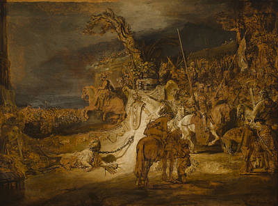 Conflict Painting - The Concord Of The State by Rembrandt van Rijn