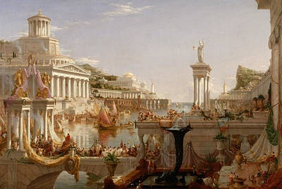 Cole Painting - The Consummation Of Empire by Thomas Cole