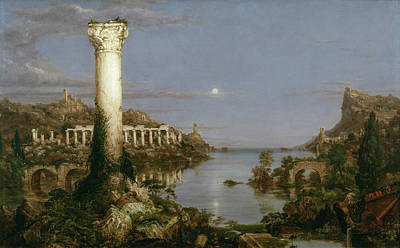 Coastal Painting - The Course Of Empire, Desolation by Thomas Cole
