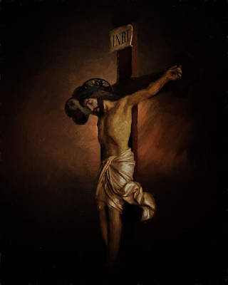 Religious Art Photograph - The Cross Of Jesus by David and Carol Kelly