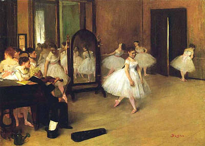 Class Painting - The Dance Hall by Edgar Degas