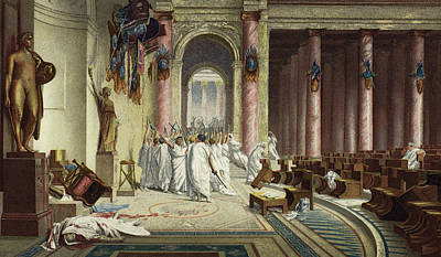 The Death Of Caesar Print by Jean Leon Gerome