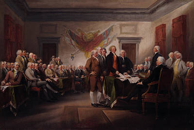 Declaration Of Independence Painting - The Declaration Of Independence by Mountain Dreams