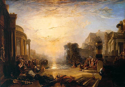 Dusk Painting - The Decline Of The Carthaginian Empire by JMW Turner
