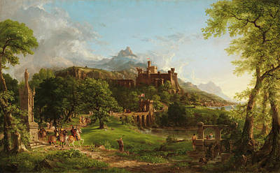Riding Painting - The Departure by Thomas Cole