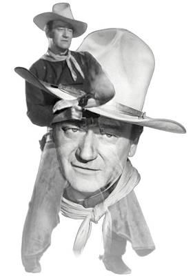 The Duke John Wayne Print by Diana Van