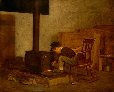Rocking Chairs Painting - The Early Scholar by Mountain Dreams