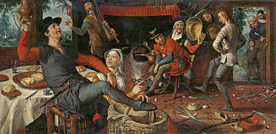 Painting - The Egg Dance by Pieter Aertsen
