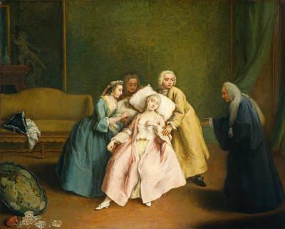Pietro Longhi Painting - The Faint by Pietro Longhi