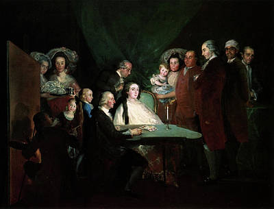Player Painting - The Family Of The Infante Don Luis by Francisco Goya