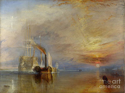 Apprehension Painting - The Fighting Temeraire by JMW Turner
