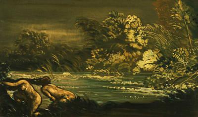Flood Painting - The Flood by Arthur Bowen Davies