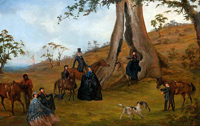 Women On Horses Painting - The Gilbert Family by Mountain Dreams