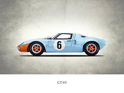 Motor Sports Photograph - The Gt40 by Mark Rogan