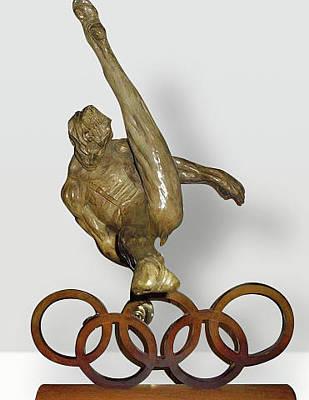 Richard Macdonald Sculpture - The Gymnast by Richard MacDonald