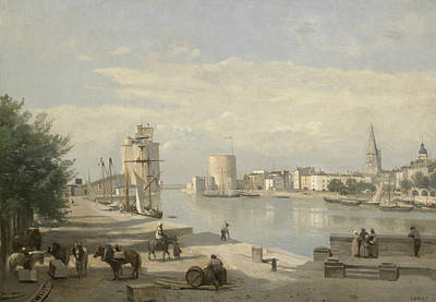 Harbor Painting - The Harbor Of La Rochelle by Jean-Baptiste-Camille Corot