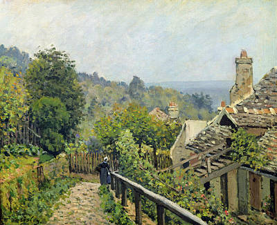 Rooftops Painting - The Heights At Marly by Alfred Sisley