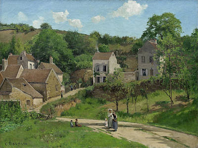Look Painting - The Hermitage At Pontoise by Camille Pissarro