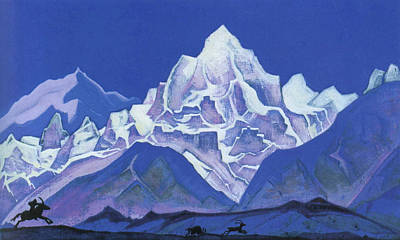 Animal Symbolism Painting - The Hunt by Nicholas Roerich