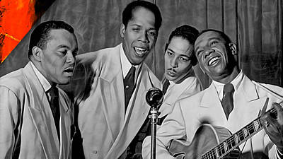 The Ink Spots Collection Print by Marvin Blaine