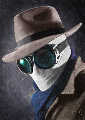 Goggles Painting - The Invisible Man by Taylan Soyturk