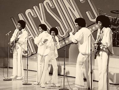 Michael Jackson Photograph - The Jackson 5 1972 by Mountain Dreams