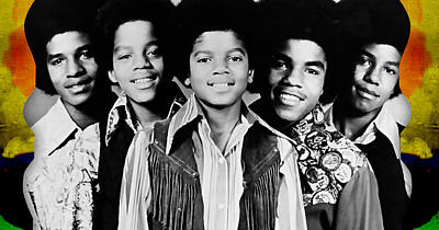 The Jackson 5 Collection Print by Marvin Blaine