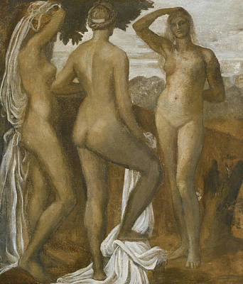 George The Painter Painting - The Judgement Of Paris by George Frederic Watts
