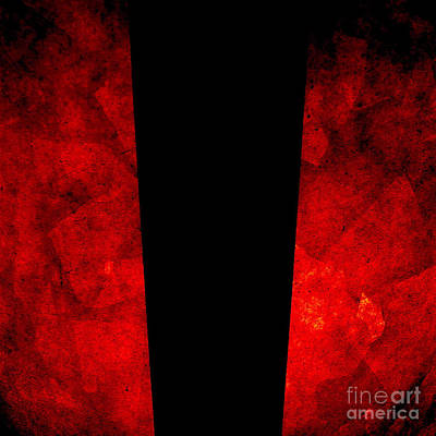 Red Photograph - The Lamp by CML Brown