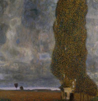 Inclement Painting - The Large Poplar II Gathering Storm by Gustav Klimt