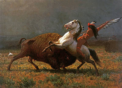 Ranchers Painting - The Last Of The Buffalo by Albert Bierstadt