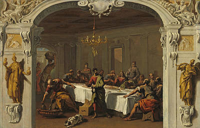 Painting - The Last Supper by Sebastiano Ricci