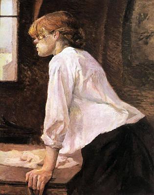 Laundry Painting - The Laundress by Henri de Toulouse-Lautrec