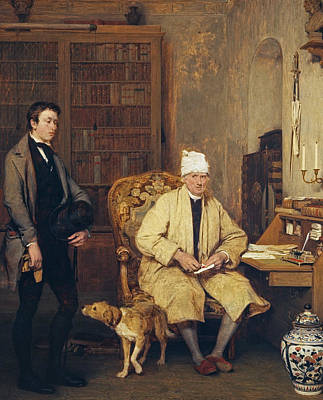 Desk Painting - The Letter Of Introduction by David Wilkie
