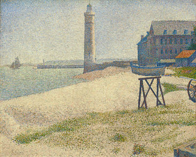 Lighthouse Painting - The Lighthouse At Honfleur by Georges Seurat