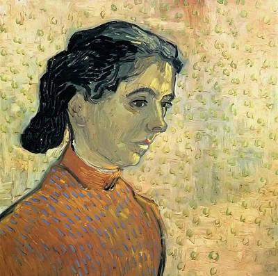 Women Painting - The Little Arlesienne by Vincent van Gogh