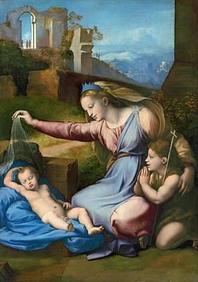 Undressed Painting - The Madonna Of The Veil by Raffaello Sanzio