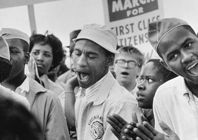 African-american Photograph - The March On Washington  A Group From Detroit by Nat Herz
