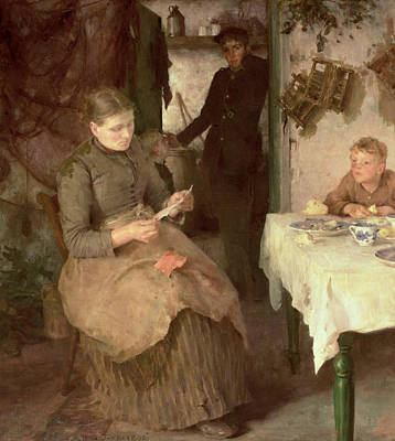 Mail Painting - The Message by Henry Scott Tuke